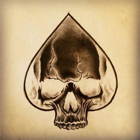 skull spade tattoo designs skull ace of spades by junkiz art hobby ideas