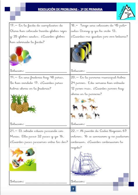 problemas razonados para cuarto grado cuaderno de problemas para primero de primaria 1 170 parte