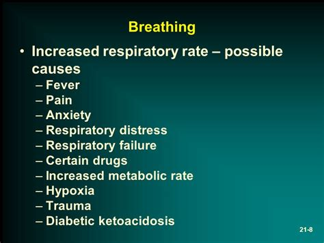 respiratory rate chapter 21 respiratory disorders ppt