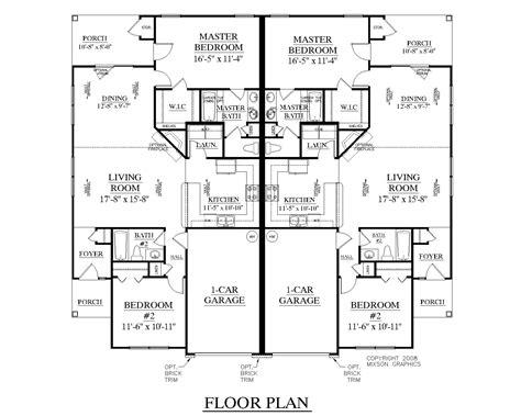 duplex floor plans free houseplans biz house plan d1196 b duplex 1196 b