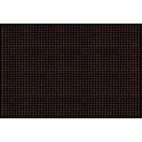 apache mills brown 24 in x 36 in synthetic fiber and