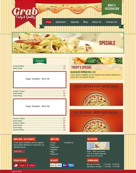 restaurant themes html grab restaurant theme html template by pxoutline