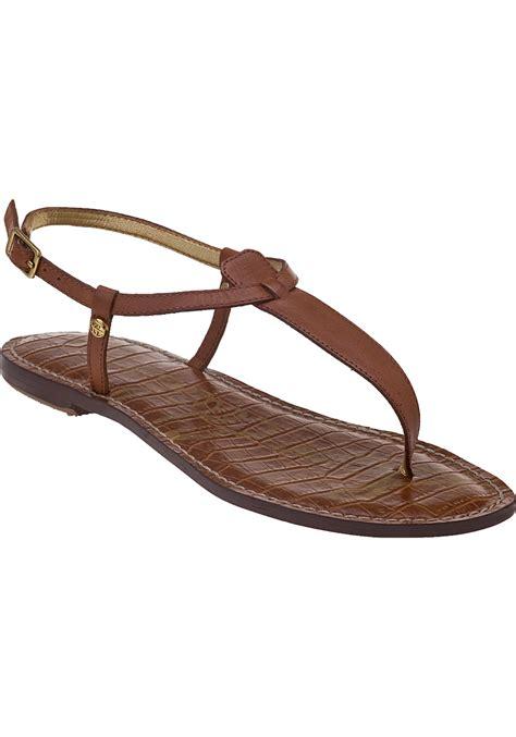 sam edelman sandal sam edelman gigi sandals in brown save 51 lyst