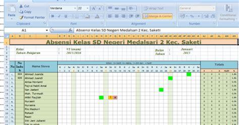 format absensi guru sd download aplikasi absensi siswa sd ada grafiknya