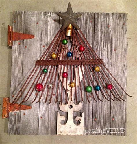 home made christmas decoration homemade christmas wall decorations rake christmas tree