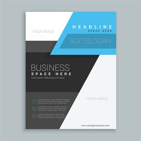 yellow business brochure template with geometric shapes modern geometric shape business brochure template
