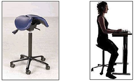 Saddle Chair With Back Support by Ergonomics Resources
