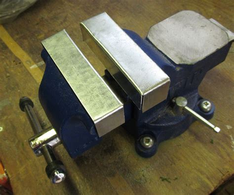 bench vise soft jaws bench vise soft jaws slip on soft jaws for a vise 4 steps