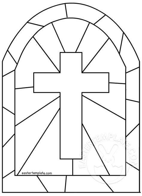 easter cross template printable stained glass cross template easter template