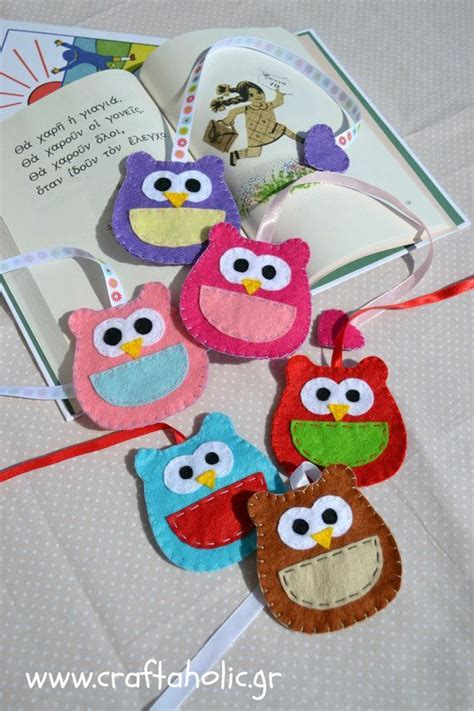 Felt Baby Shower Favors by Owl Bookmark Felt Owl Felt Bookmark Many Colors