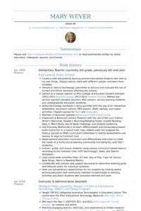elementary resume sles visualcv resume