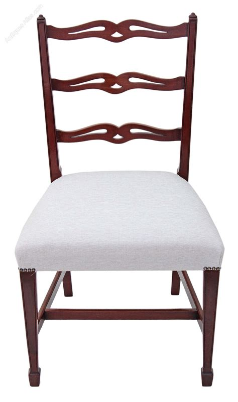 Mahogany Dining Chair Set Of 8 Mahogany Dining Chairs Antiques Atlas