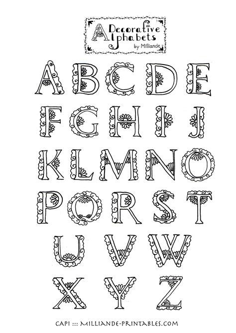 decorative styles lettering styles alphabet creative typography alphabets