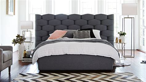 bed designs with good head side boxes pietra bed frame domayne