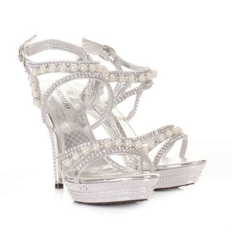 Silver Heels For Wedding by Silver High Heels For Wedding Www Pixshark Images