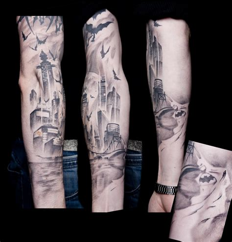 city tattoo gotham skyline www imgkid the image kid has it