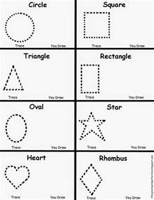 shape tracing templates s journey to perfection preschool shapes worksheet