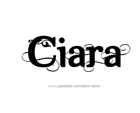 ciara tattoo design name ciara 17 png
