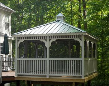 Backyard Creations Steel Roof Gazebo Reviews Backyard Creations Gazebo Metal Specs Price Release