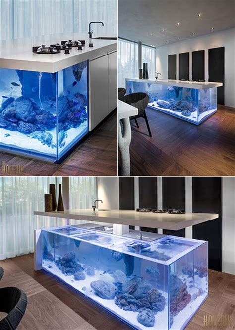 Kitchen Island Designs another look at ocean kitchen the aquarium that doubles