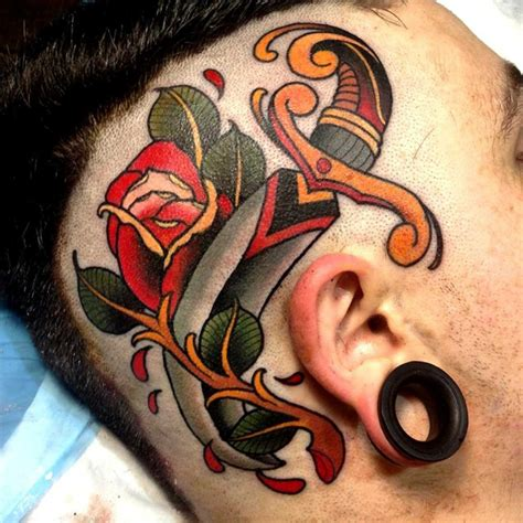 rose head tattoo tattoos best ideas gallery part 6