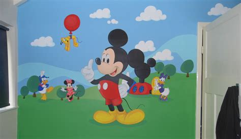 Mickey Mouse Wall Murals kids custom artwerk