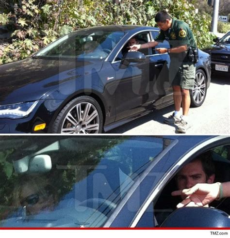 emma stone car andrew garfield gets caught in a speed trap with his audi