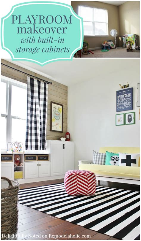 diy play room remodelaholic playroom makeover with built in cabinets