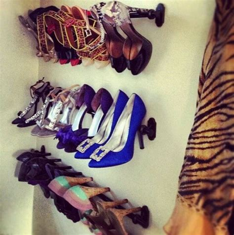 curtain rods for high heel shoe rack for the home