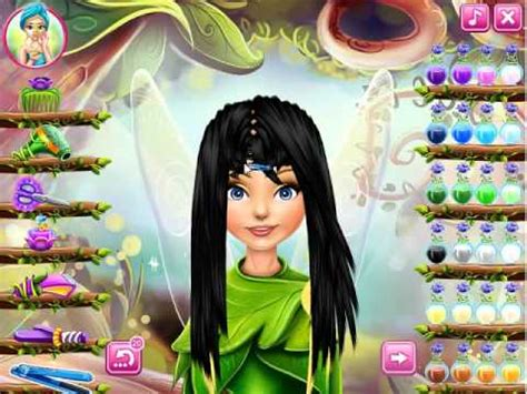 real haircut games tinkerbell pixie hollow real haircuts real hair games for girls youtube