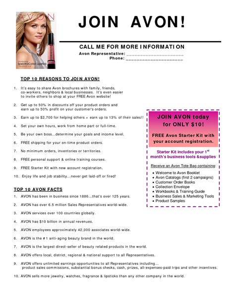 avon templates free avon flyer search avon avon