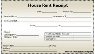 Rent Book Template by House Rent Receipt Template Excel Excel Template