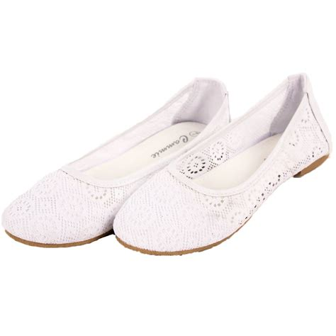 lace ballet slippers womens lace ballet flats mesh crochet slip on casual shoes