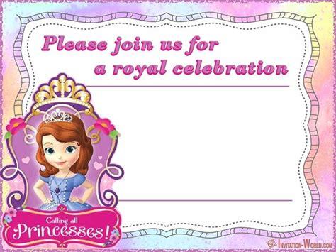sofia the free invitation templates sofia the free invitation templates