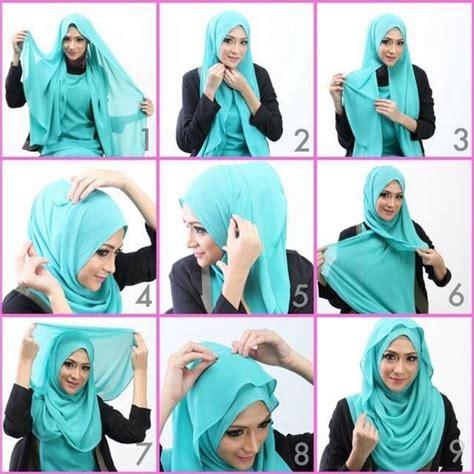 tutorial hijab resmi kondangan 35 cara memakai jilbab pashmina simple kreasi terbaru 2017