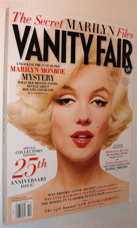 Marilyn Vanity Fair by Vanity Fair October 2008 Marilyn Cover