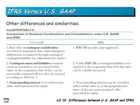 Mba Project Report On Ifrs by Business Combinations Ifrs Us Gaap