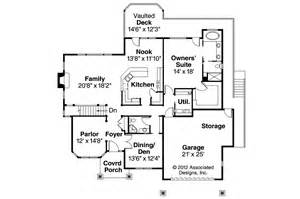 Craftsman Homes Floor Plans Craftsman House Plans Worthington 30 594 Associated Designs
