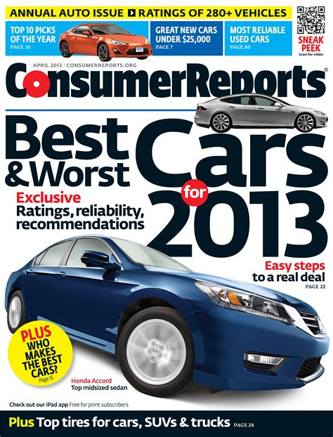 Consumer Reports Car Books by Consumer Reports Releases 2013 Annual Auto Issue Top Picks Carnewscafe