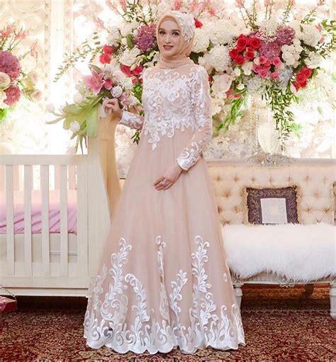 desain gaun akad nikah 17 model baju pengantin muslim 2018 desain elegan cantik