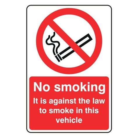No Smoking Sign For Vehicles | vehicle no smoking signs flat living ltd