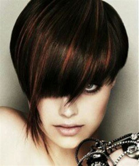 Brunette Hairstyles With Copper Highlights | brown hair with copper highlights ღ hair pinterest