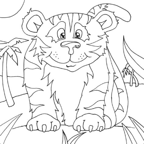 cute zoo coloring pages cute tiger colouring