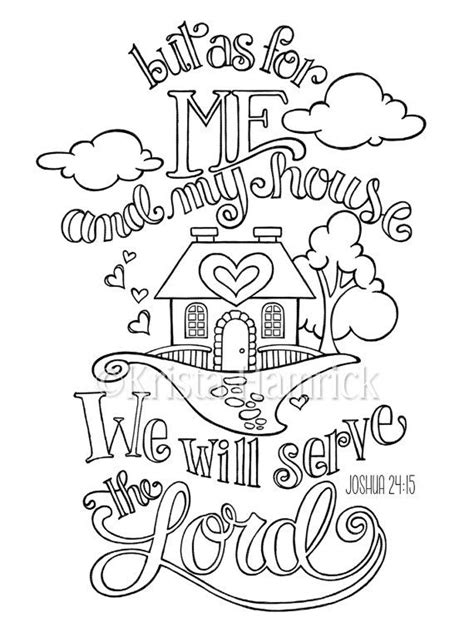 coloring pages for bible journaling krista hamrick as for me and my house coloring page in