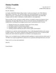 cover letter for pr best relations cover letter exles livecareer