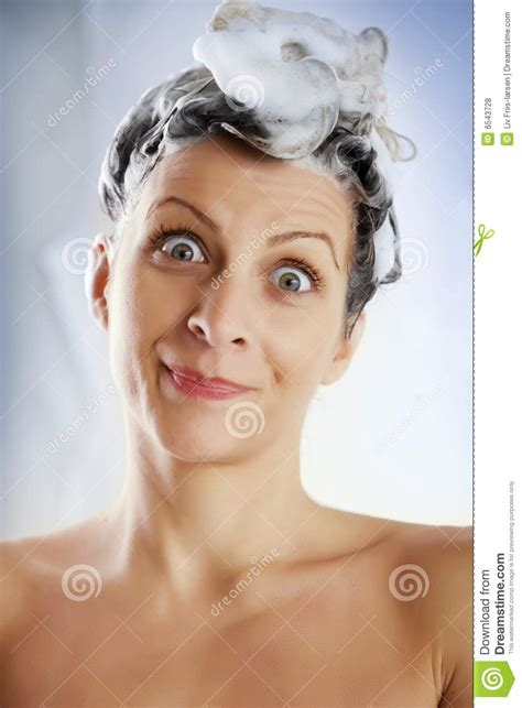 Time To Wash That Hair Madge by Washing Hair Stock Photo Image Of Portrait Hair