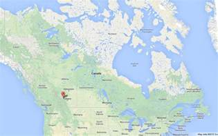 banff national park on map of canada world easy guides