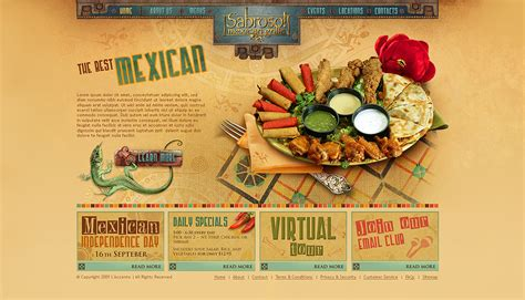 outstanding restaurant website design