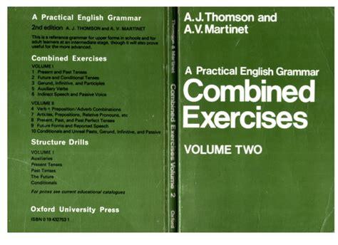 Tomson And Martinet Grammar practical usage pdf free backupsit