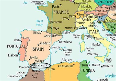 gibraltar on the world map map of gibraltar cake ideas and designs
